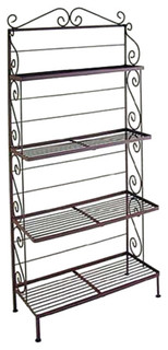 "30"" Four Graduated Shelf Bakers Rack Antique Bronze"