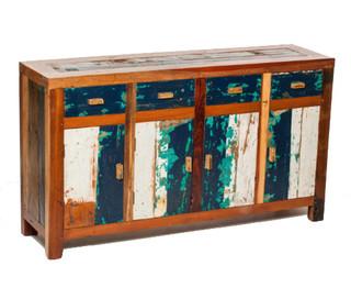 Reclaimed Sideboard from Bali Boat Wood Teak Wood Sideboard