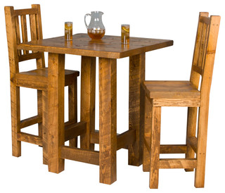 Barnwood Pub Table And Chair Set