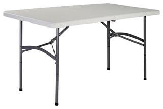 Modern 5' Folding Portable Plastic Camp Table