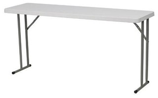 "White Top Commercial Grade 60"" Folding Table Holds up to 330 lbs."