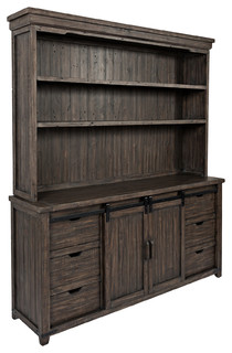 Madison County Hutch Server Barnwood