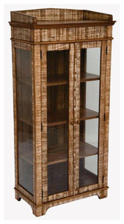 Distressed Curio Cabinet - Reclaimed Wood