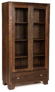 Rustic-Modern Display Cabinet