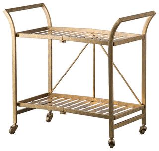 Cleo Golden Serving Cart