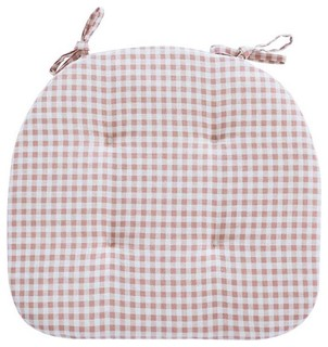 Lovely Chair Mats Student/Office Dining Cushions Witn Straps Pink