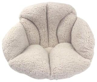Winter Plush Warm Cushion Thicker Office Mat Waist Tatami Cushions Khaki