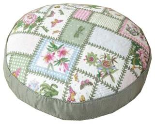 Thicken Round Floor Pillow Cushion Japanese Style Futon Seat Cushion 21.6 A6