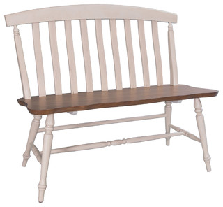 Liberty Furniture Al Fresco III Slat Back Bench Driftwood and Sand Finish