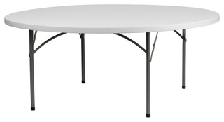 72'' Round Granite Plastic Folding Table