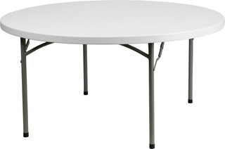 "60"" Round Granite Plastic Folding Table"
