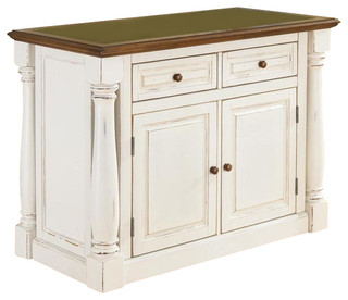 Kitchen Island in Antique White Finish