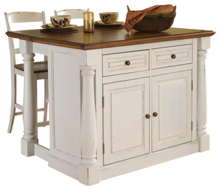 Kitchen Island with 2 Stools