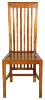 Solid Teak Mission Side Chairs Set of 6