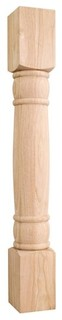 Rounded Doric Wood Post Alder