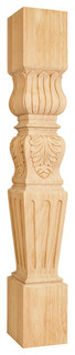 P29ALD Acanthus /Fluted Traditional Post in Alder