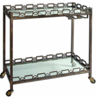 Uttermost 24307 Nicoline Iron Serving Cart
