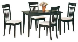 Coaster Casual Wood 5-Piece Tan Cappuccino Dining Set
