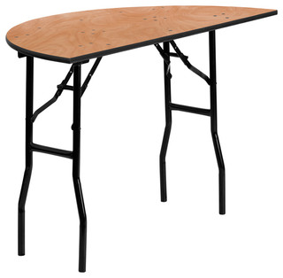 48 in. Dia. Half-Round Folding Banquet Table