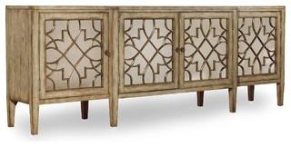 Hooker Furniture Sanctuary 4-Door Mirrored Console Surf-Visage