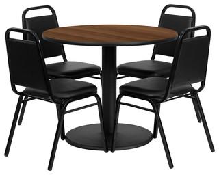 Table Set Black/Walnut
