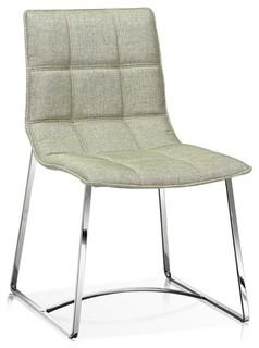 Modern Fabric Dining Chair Silverfox