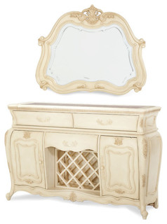 Lavelle Blanc Sideboard and Mirrors 2-Piece Set