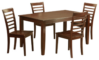 5 Pc Dining Set-Dining Table With 4 Kitchen Chairs