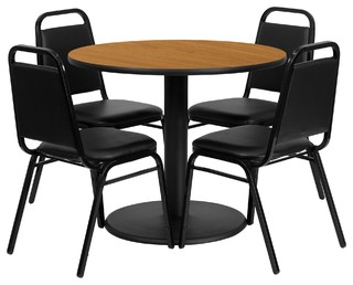 Table Set Black/Natural