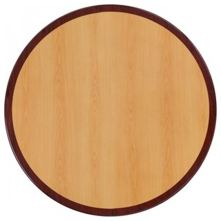 Two-Tone Resin Table Top Cherry/Mahogany