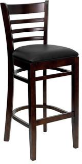 Flash Furniture Hercules Series Ladder Back Wooden Restaurant Bar Stool