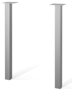 Two Metal Legs Silver