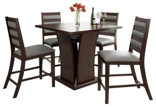 """Sonax CorLiving 5pc Bistro 36"""" Counter Height Rich Cappuccino Dining Set"""