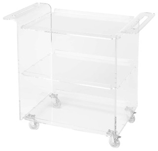 Butler Loft Crystal Clear Acrylic Trolley Server