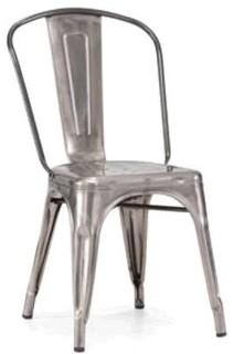 Modrest Modern Grey Metal Side Chair
