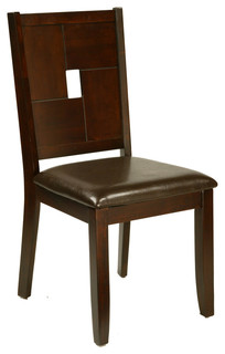 Lakeport Side Chairs With Faux Leather Cushions Set of 2