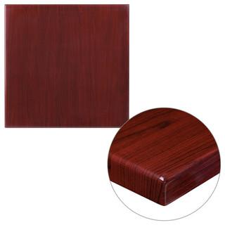 24 Square Resin Mahogany Table Top