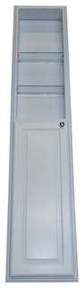 "72"" White Enamel Finished Monterey Pantry Storage Cabinet w/ 36"" Shelf"