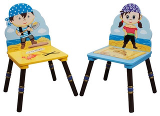 Pirate Island Wooden Toddler Chairs Set of 2