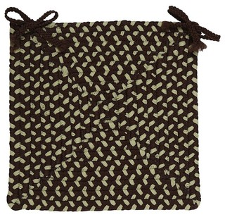 Braided Montego Chair Pad Brown Square 15 - Set of 4