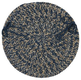 Braided Tremont Chair Pad Blue Round 15 - Set of 4