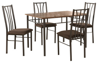 5-Piece Table and Chairs Dining Set Cherry