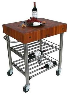 Wine Cart w Cherry End Grain Top