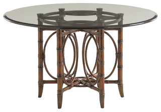 Lexington Landara Coral Sea Rattan Dining Table Base Only