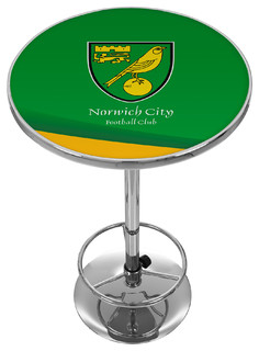 Premier League Norwich City Chrome Pub Table