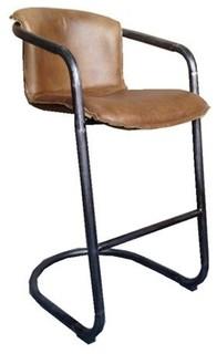Full Grain Genuine Leather Stool Whisky Bar Seat