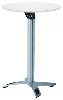 Yang Round Folding Bar Table White