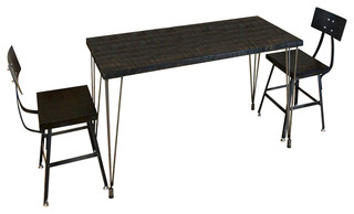 """Reclaimed Wood Table Leveling Hairpin Legs 1.65"""" Thick 30x60x30 Beeswax"""