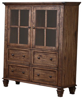 Classic Furniture Sutton Manor China Cabinet Distressed Oak