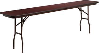 Flash Furniture Mahogany Melamine Folding Tables - YT-1896-HIGH-WAL-GG